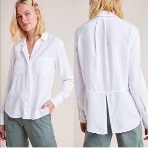 Anthropologie Cloth & Stone split-back button down